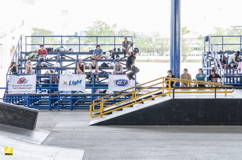 ภาพการแข่งขัน Singha Light Inline skate Circuit 2014